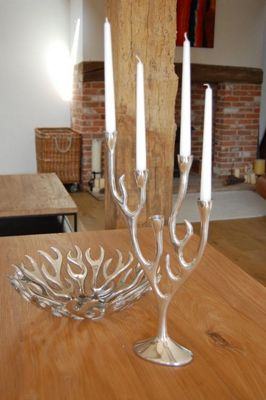 Katigi Designs Aluminium Flame Candle Stick Holder