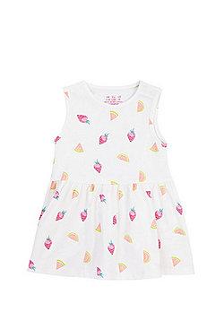 F&F Fruit Print Summer Dress - White/Multi