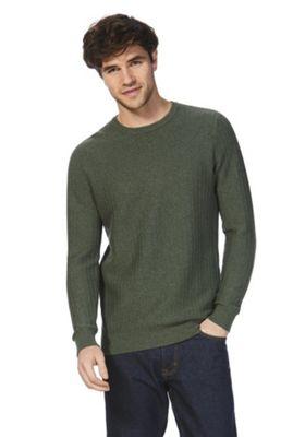 F&F Textured Knit Jumper Khaki XL