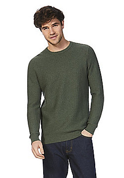 F&F Textured Knit Jumper - Khaki