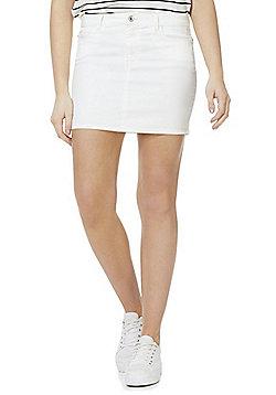 Vero Moda Denim Mini Skirt - White