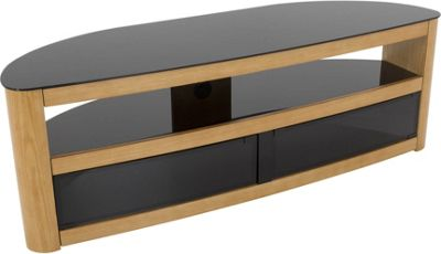 AVF Burghley FS1500BURO Oak TV Stand for up to 70 inch TVs
