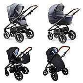 Jedo Trim Pushchair/Pram Navy - Black Frame