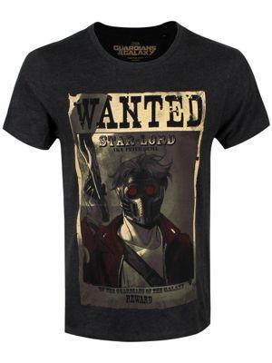 Marvel Comics Guardians Of The Galaxy Wanted Grey Men's T-shirt