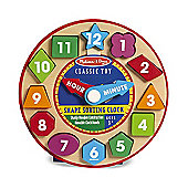 Melissa & Doug Shape Sorting Clock Toy Set Age 3+