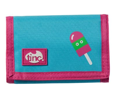 Tinc Lolly design Wallet/Purse with velcro fastening and zip coin pocket - Blue/Pink