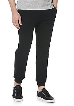 F&F 2 Pack of Cuffed Joggers - Black