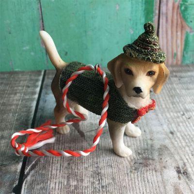 Beagle in Green Coat Dog Decoration