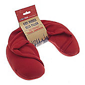 Globetrek Kid's Hooded Travel Neck Pillow, Red