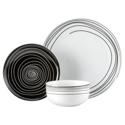 Atlanta Super White Porcelain 12 Piece Dinner Set