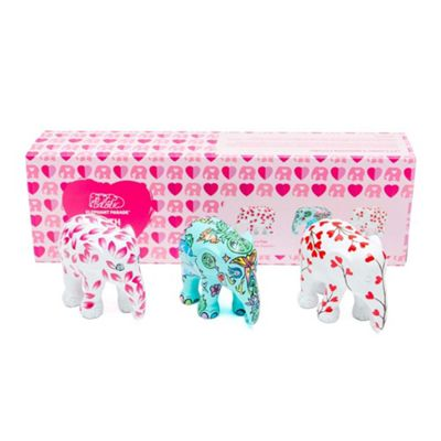 Elephant Parade Multi Pack With Love Set of 3 x 7cm Size