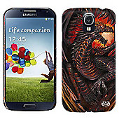 Spiral Dragon Furnace Mobile Phone Case for Samsung Galaxy S4, Black - Telephony