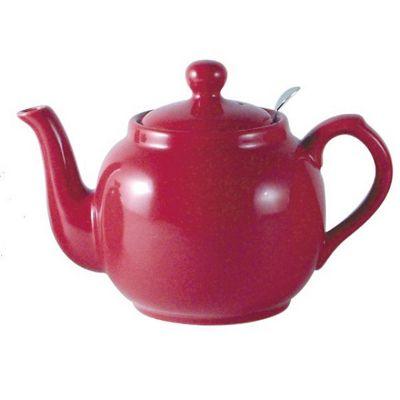 London Pottery UK British Design Farmhouse Filter 4 Cup Teapot 1.2L Rose Pink