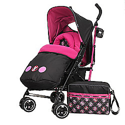 Obaby Minnie Mouse Travel System Bundle with Safety Mosquito Net - Minnie Circles