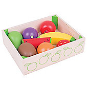 Bigjigs Toys Wooden Fruit Crate - Play Food and Role Play Toys