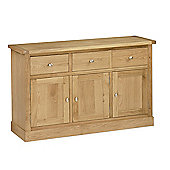 Hampshire Oak Sideboard - Large Sideboard - 3 Door Sideboard
