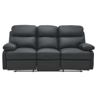 Cordova Leather Large Recliner Sofa Black