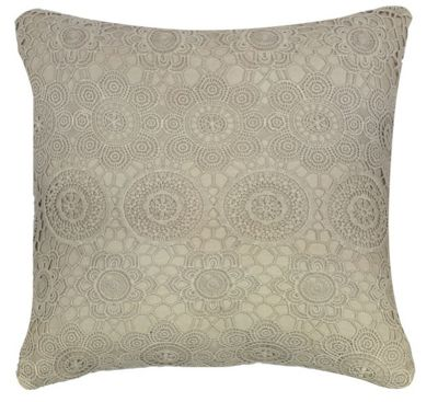 Stylish Natural Mauve Lace Cushion For Couch Sofa Bed