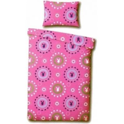 Playboy Bubbles Rotary Single Bed Duvet Quilt Cover Set