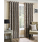 Oxford Street Ready-Made Eyelet Curtains - Latte