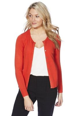 F&F Button-Through Cardigan with As New Technology Orange 16