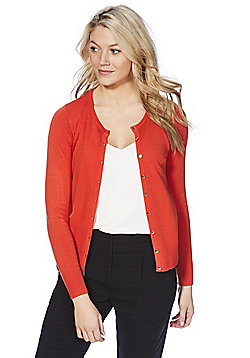 F&F Button-Through Cardigan with As New Technology - Orange