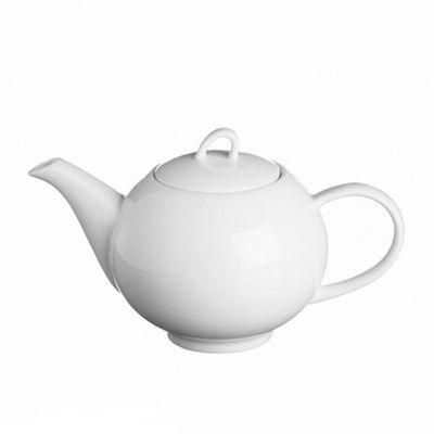 Price & Kensington Simplicity Teapot, Fine Porcelain, 900ml, (White)