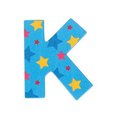 Bigjigs Toys Star Letter K (Blue)