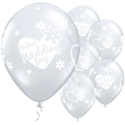 On Your Wedding Day 11 inch Latex Balloons - 25 Pack