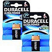 Duracell Ultra Power 9V 2 Pack Alkaline non-rechargeable battery