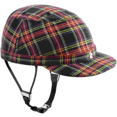 YAKKAY Paris Blue Red Check Helmet Cover: Medium (55-57cm).