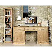 Baumhaus Mobel Oak Large Hidden Office Twin Pedestal Desk