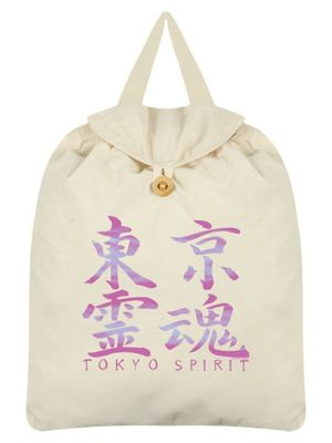 Tokyo Spirit Kanji Festival Backpack 35 x 41cm, Cream