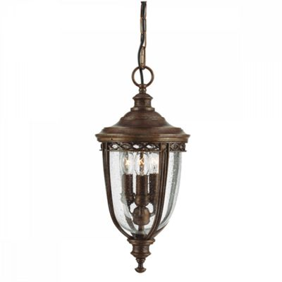 British Bronze 3lt Medium Chain Lantern - 3 x 60W E14