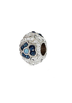 Amore & Baci Swarovski Crystal Flower Bead - Blue and White
