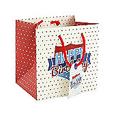 Red White Blue Happy Birthday Gift Bag -Small
