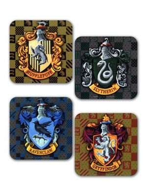 Harry Potter House Crests Set Of Coasters