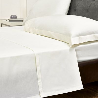 Julian Charles Mayfair Cream 300 Thread Count 100% Egyptian Cotton Flat Sheet - King