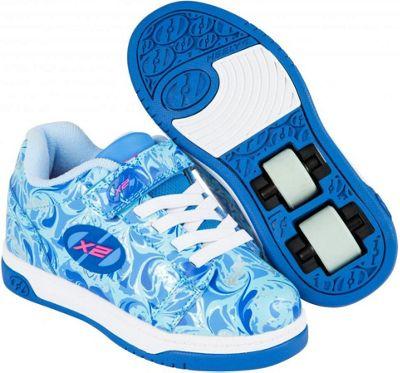 Heelys Dual Up Solid Blue/Multi/Marble Kids Heely X2 Shoe JNR 11
