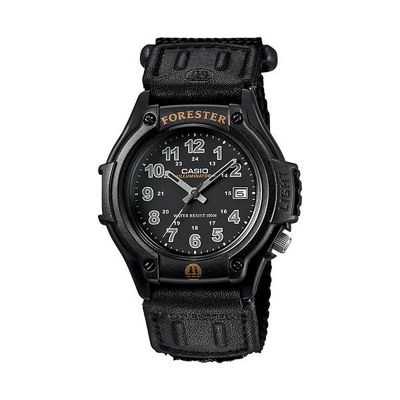 Casio FT500WC/1BVER Forester Watch│Analogue Display│100M WR│LEDLight│Resin│Black