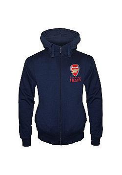 Arsenal FC Mens Zip Hoody - Navy blue