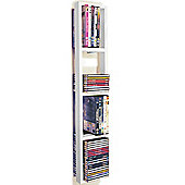 Wall Mounted Cd / Dvd / Blu Ray Storage Shelf - White