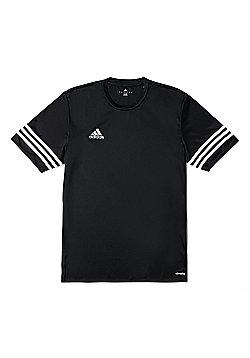 adidas Entrada 14 Short Sleeve Kids Football Training T-Shirt Black - L