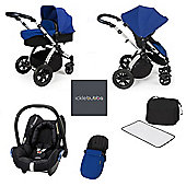 ickle bubba Stomp V3 Maxi Cosi All in One Travel System - Blue (Silver Chassis)
