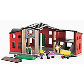 BRIO Horse Stable with Horses Play Figures and Accessories Playset 33791