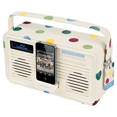 Viewquest Emma Bridgewater Retro DAB+/FM Radio, iPhone 4/4s Polka Dot