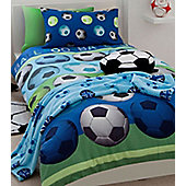 Catherine Lansfield Football Duvet Cover Set in Blue - Blue