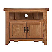 Arklow Oak Corner TV Unit / Oak Corner TV Stand