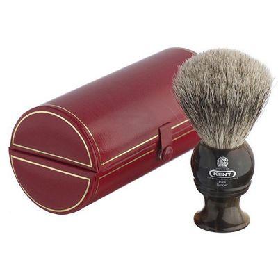 Kent Small Size Badger Bristle Horn Shaving Brush - H4