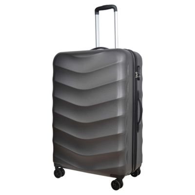 Tesco Malaga Large 8 Wheel Charcoal Hard Shell Suitcase